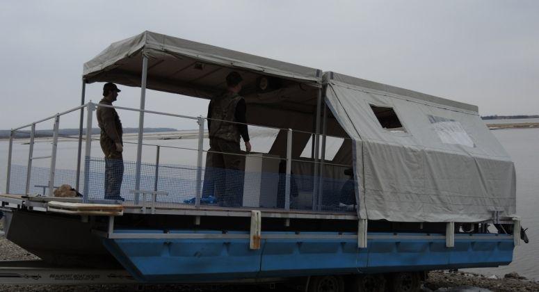 Моторный понтон, Хабаровск